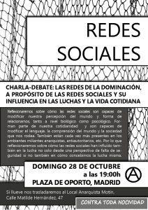 [Charla-Debate]: LAS REDES DE LA DOMINACIÓN: A PROPÓSITO DE LAS REDES SOCIALES Y SU INFLUENCIA EN LAS LUCHAS Y LA VIDA COTIDIANA